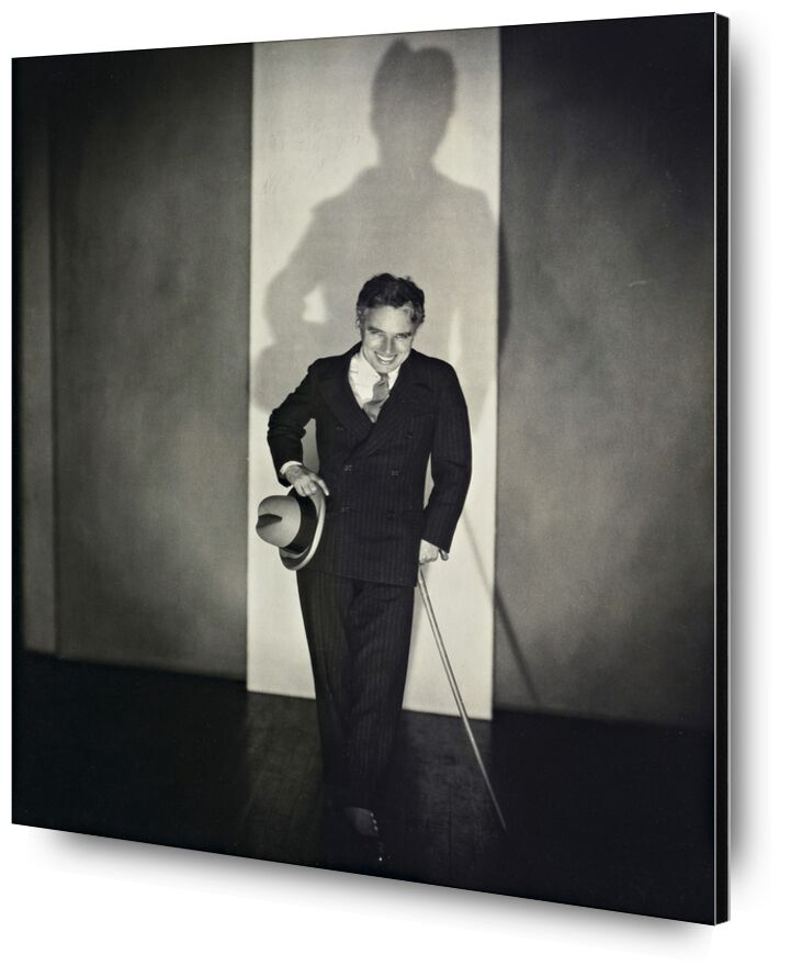 Charlie Chaplin - Edward Steichen 1925 de Aux Beaux-Arts, Prodi Art, chapeau, noir et blanc, spectacle, Charlie Chaplin, Edward Steichenn, canne, salle de spectacle