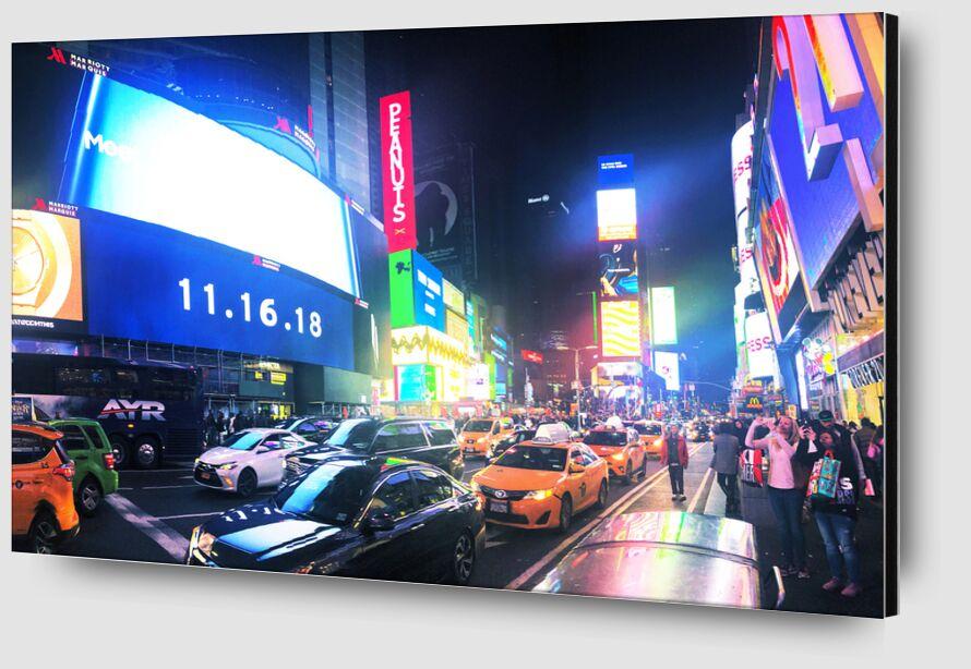 Times Square de Cyril Jourdan Zoom Alu Dibond Image