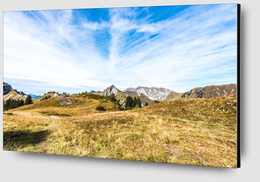 En plein coeur des montagnes savoyardes de Marie Guibouin Zoom Alu Dibond Image