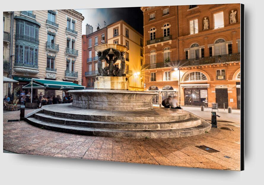 Fontaine tranquille de Tanguy Chausson Zoom Alu Dibond Image
