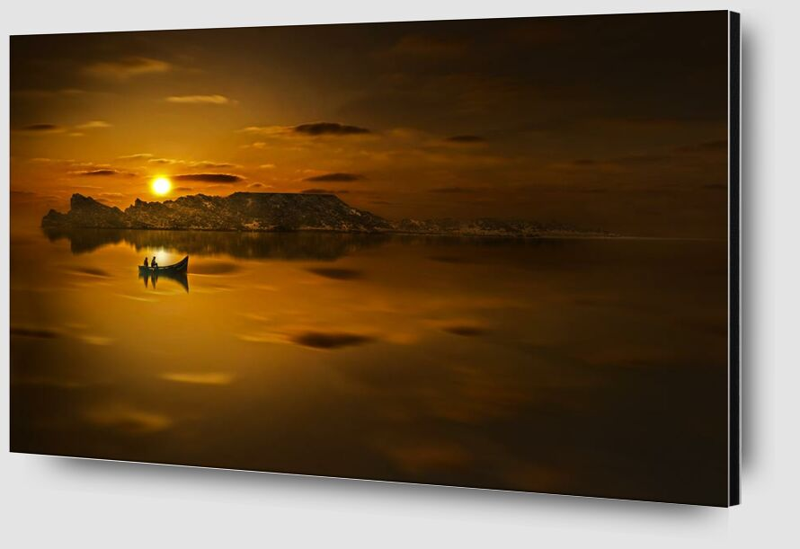 Golden water from Aliss ART Zoom Alu Dibond Image