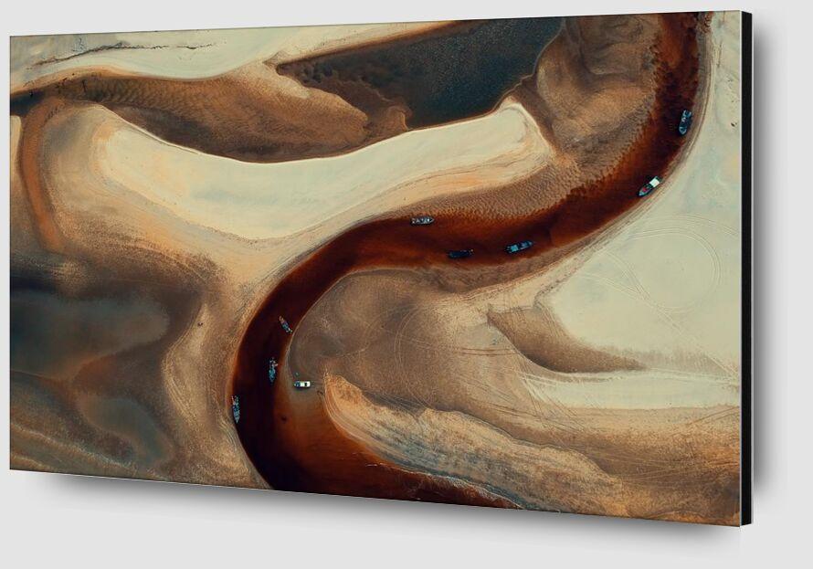 Sand map from Aliss ART Zoom Alu Dibond Image