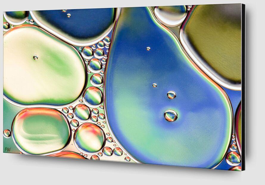 Oily bubbles #11 from Mickaël Weber Zoom Alu Dibond Image