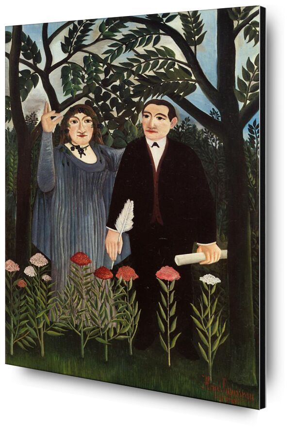 The Muse Inspiring the Poet from AUX BEAUX-ARTS, Prodi Art, rousseau, flowers, forest, painting, trees