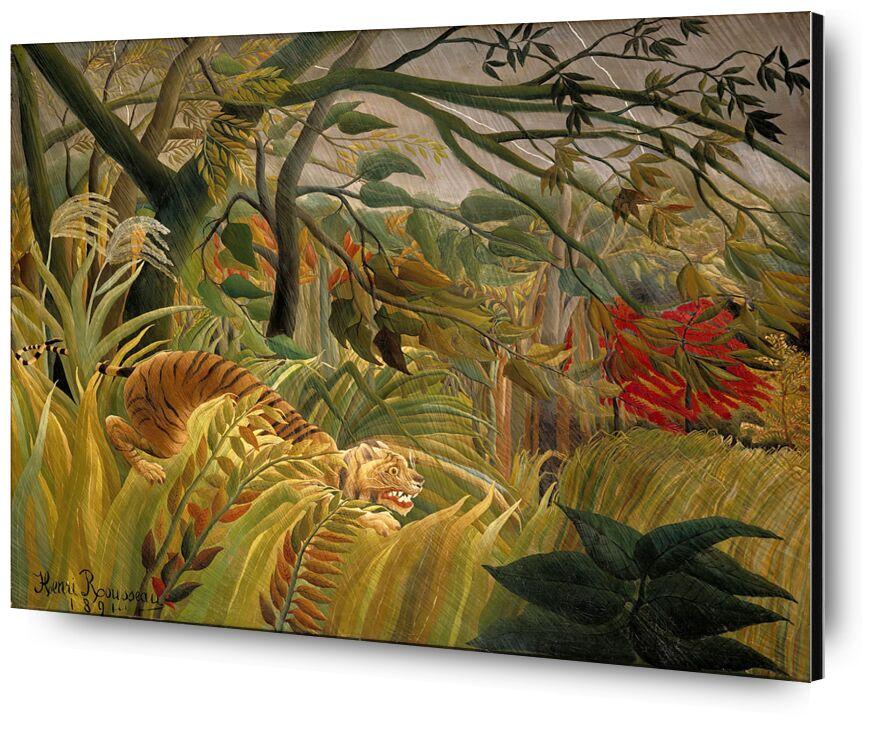 Tiger in a Tropical Storm desde AUX BEAUX-ARTS, Prodi Art, Rousseau, trópico, selva, árboles, Tigre, flores