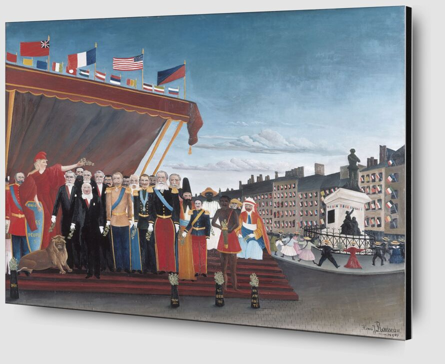 The Representatives of Foreign Powers Coming to Salute the Republic as a Sign of Peace from AUX BEAUX-ARTS Zoom Alu Dibond Image