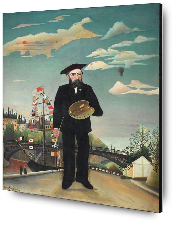 Myself from AUX BEAUX-ARTS, Prodi Art, boat, city, auto-portrait, rouseau