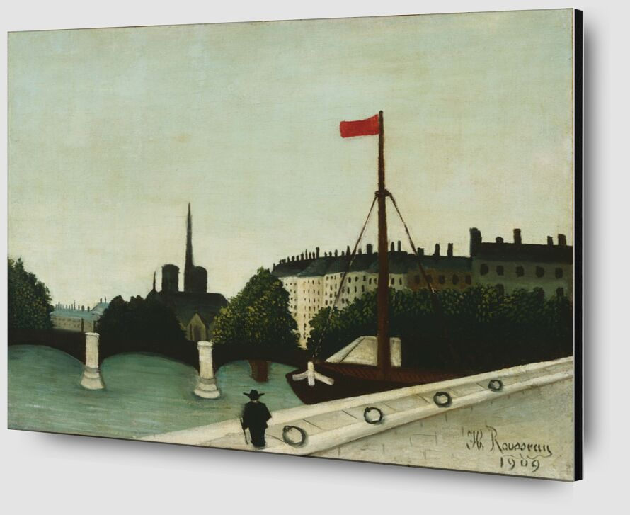Notre-Dame vue du quai Henri IV de Aux Beaux-Arts Zoom Alu Dibond Image