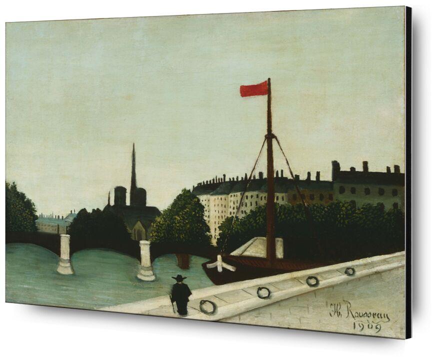 Notre-Dame seen from quai Henri IV from AUX BEAUX-ARTS, Prodi Art, rousseau, Paris, henry iv, Our Lady