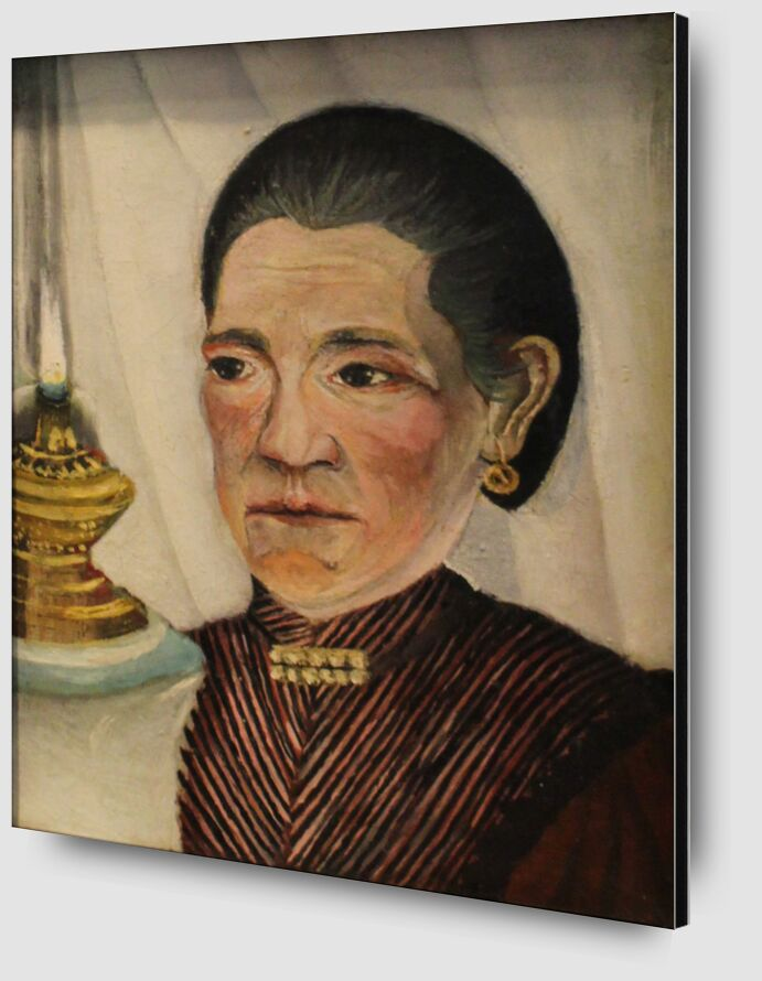Portrait of the artist's second wife with a lamp from AUX BEAUX-ARTS Zoom Alu Dibond Image