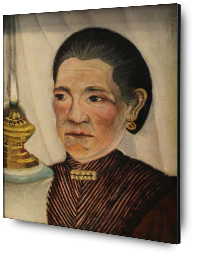 Portrait of the artist's second wife with a lamp from Aux Beaux-Arts, Prodi Art, rousseau, woman, lamp, portrait, wife