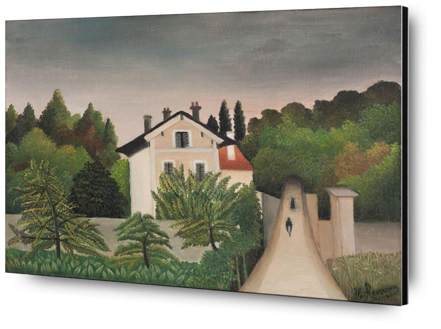Landscape Taken on the Edges of Oise, Territory of Chaponval desde AUX BEAUX-ARTS, Prodi Art, Rousseau, paisaje, casa, bosque, cielo, árboles