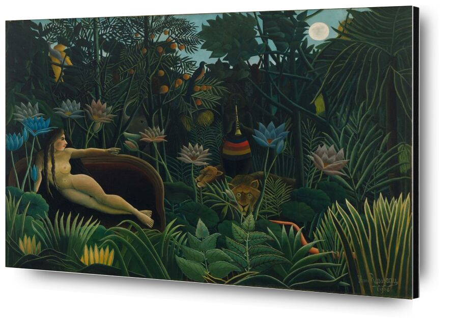The dream from AUX BEAUX-ARTS, Prodi Art, forest, wild, night, Moon, rousseau, jungle, dream
