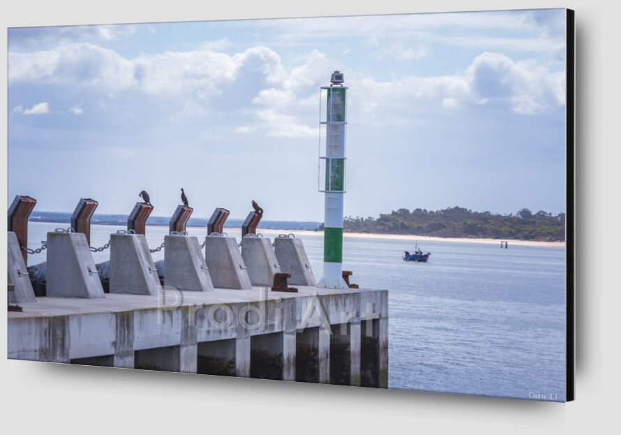 Embarcadère de Caro Li Zoom Alu Dibond Image