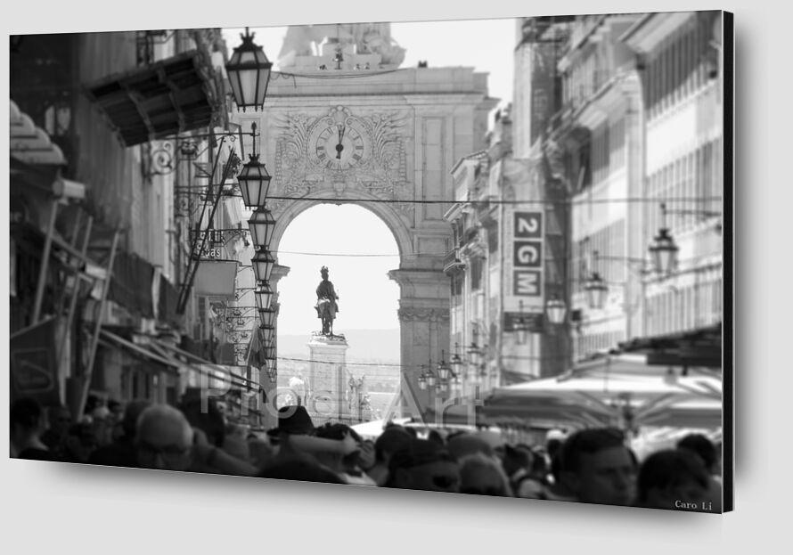 Lisbonne de Caro Li Zoom Alu Dibond Image