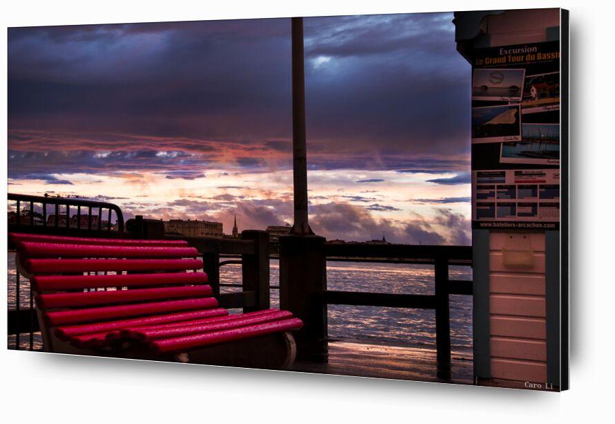 The Bench from Caro Li, Prodi Art, the bench, The Bench, arcachon, France, sunset, sunset, sea, sea