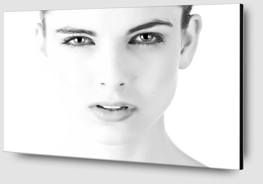 Face black & white from Pierre Gaultier Zoom Alu Dibond Image