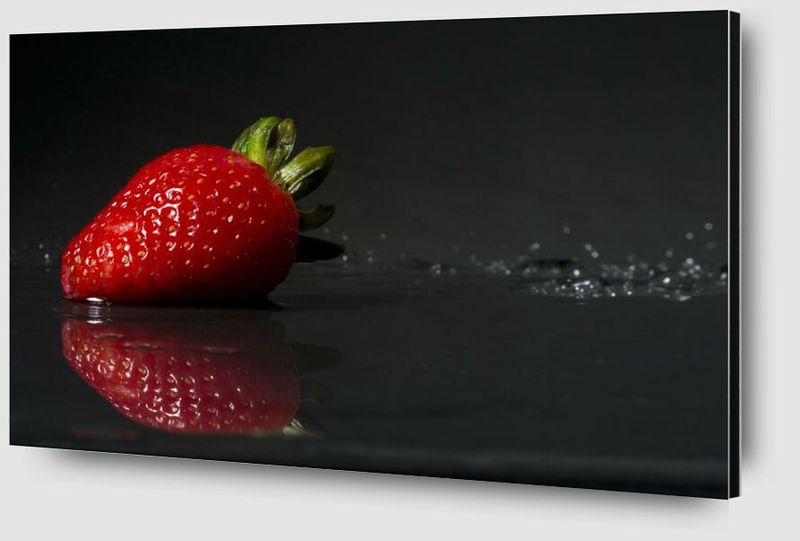 The strawberry from Pierre Gaultier Zoom Alu Dibond Image