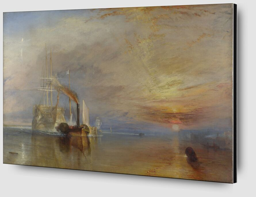 The Fighting Temeraire - WILLIAM TURNER 1883 desde AUX BEAUX-ARTS Zoom Alu Dibond Image