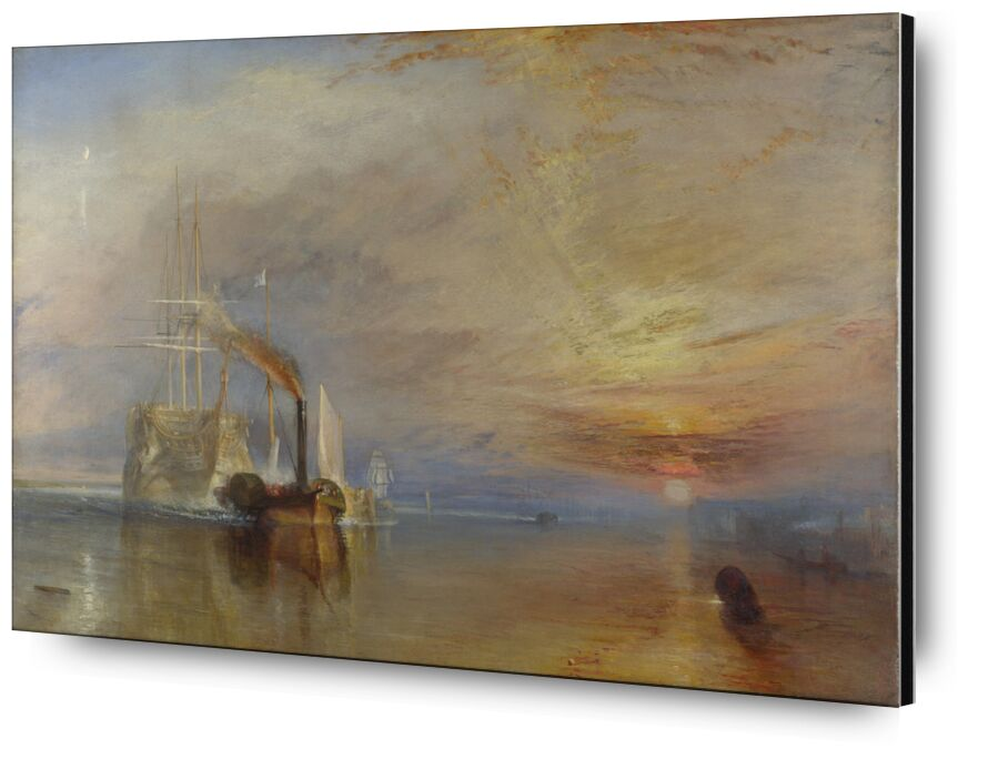 The Fighting Temeraire - WILLIAM TURNER 1883 from AUX BEAUX-ARTS, Prodi Art, WILLIAM TURNER, reflection, painting, Sun, clouds, sky, sea, boat