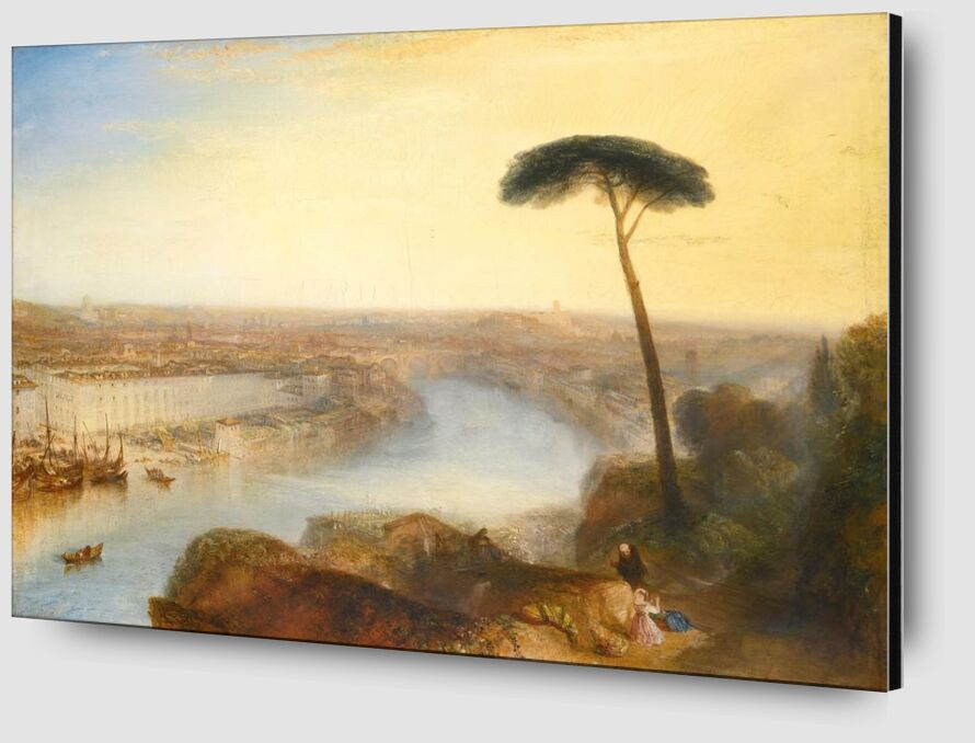 Rome, From Mount Aventine - WILLIAM TURNER 1835 from AUX BEAUX-ARTS Zoom Alu Dibond Image