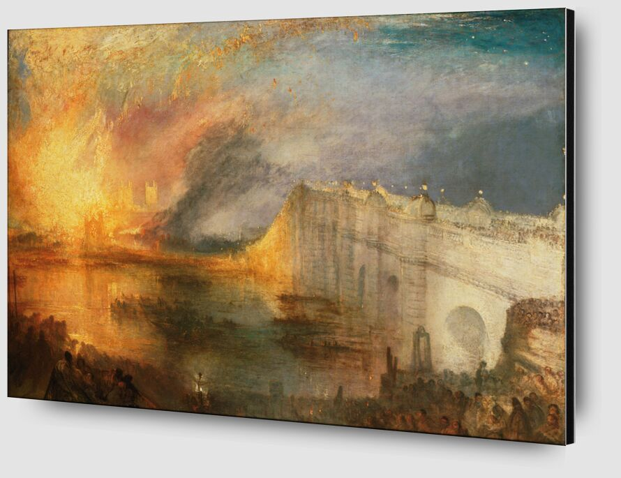The Burning of the Houses of Lords and Commons - WILLIAM TURNER 1834 from Aux Beaux-Arts Zoom Alu Dibond Image