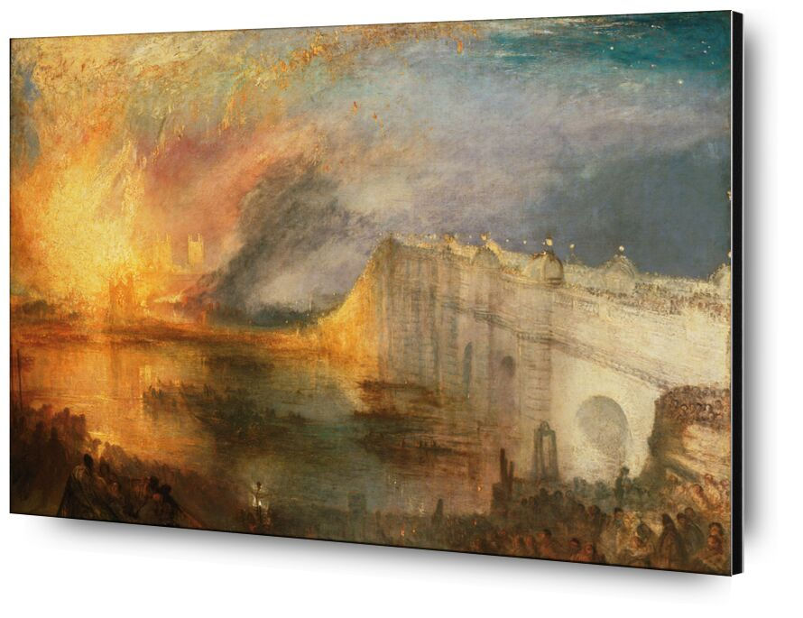 The Burning of the Houses of Lords and Commons - WILLIAM TURNER 1834 desde AUX BEAUX-ARTS, Prodi Art, Cámara de los Lores, Señores, fuego, WILLIAM TURNER, pintura, Londres