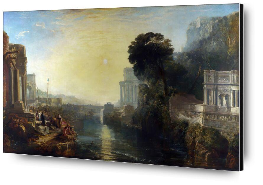 Didon construisant Carthage - WILLIAM TURNER 1815 de Aux Beaux-Arts, Prodi Art, fleuve, construction, soleil, ciel, WILLIAM TURNER, peinture, dido