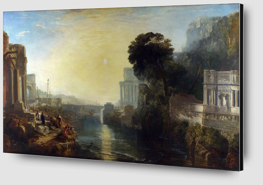 Dido Building Carthage - WILLIAM TURNER 1815 from AUX BEAUX-ARTS Zoom Alu Dibond Image