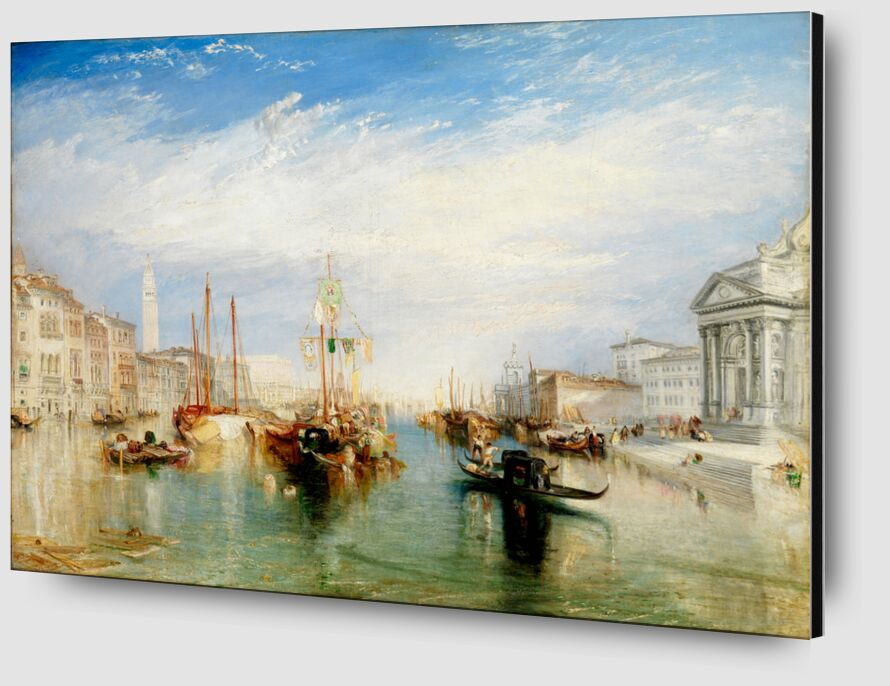 Venice, from the Porch of Madonna della Salute - WILLIAM TURNER 1835 from Aux Beaux-Arts Zoom Alu Dibond Image
