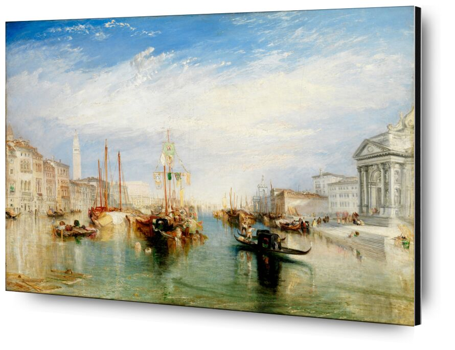 Venice, from the Porch of Madonna della Salute - WILLIAM TURNER 1835 from AUX BEAUX-ARTS, Prodi Art, grand canal, painting, WILLIAM TURNER, clouds, blue, sky, italy, venice