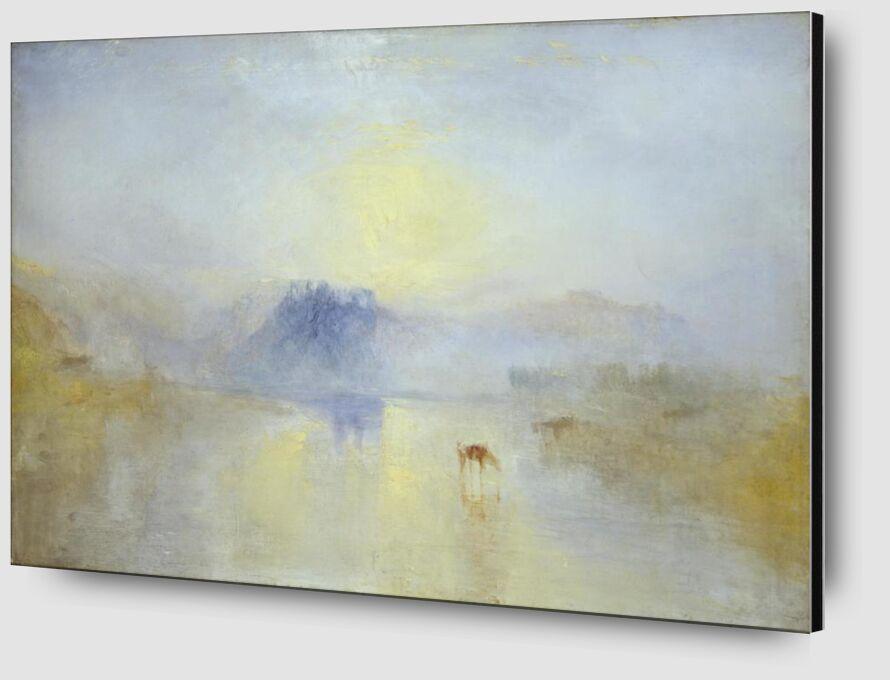 Norham Castle, Sunrise - WILLIAM TURNER 1845 from AUX BEAUX-ARTS Zoom Alu Dibond Image