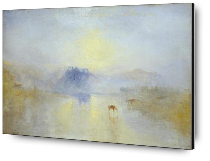 Norham Castle, Sunrise - WILLIAM TURNER 1845 from AUX BEAUX-ARTS, Prodi Art, Norham, Sunrise, painting, WILLIAM TURNER, england, horses, chateau