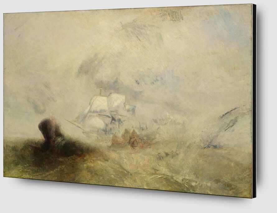 Whalers - WILLIAM TURNER 1840 from AUX BEAUX-ARTS Zoom Alu Dibond Image