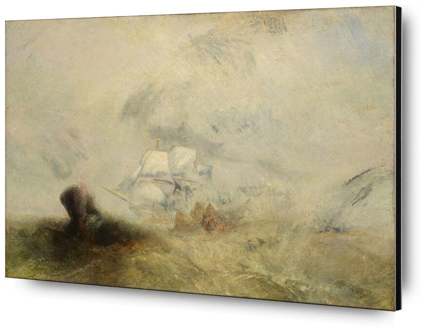 Whalers - WILLIAM TURNER 1840 desde AUX BEAUX-ARTS, Prodi Art, pescador, monstruo marino, pintura, WILLIAM TURNER, melocotón, barco, mar