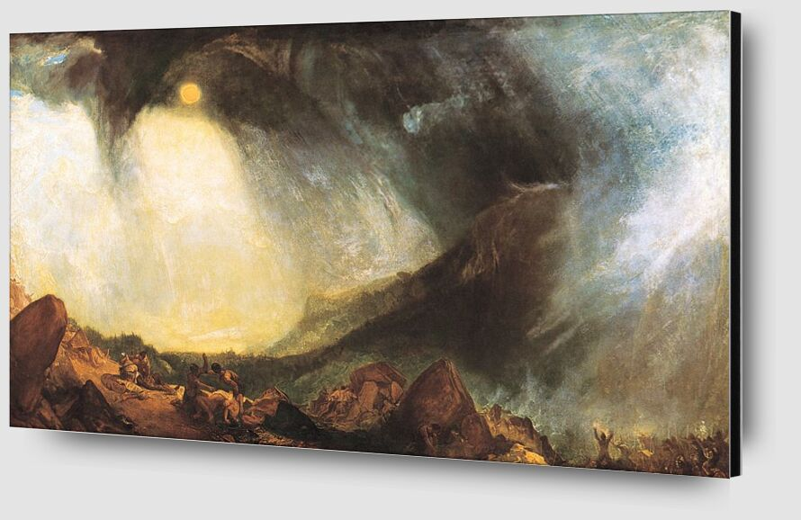 Snow Storm: Hannibal and his army crossing the Alps - WILLIAM TURNER 1812 from Aux Beaux-Arts Zoom Alu Dibond Image