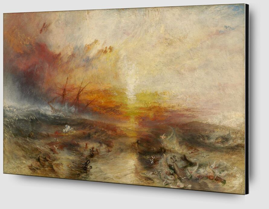 The slave ship - WILLIAM TURNER 1840 from Aux Beaux-Arts Zoom Alu Dibond Image