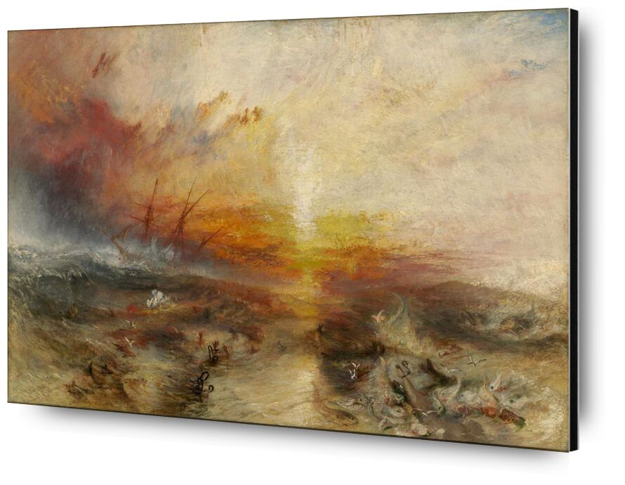 The slave ship - WILLIAM TURNER 1840 from AUX BEAUX-ARTS, Prodi Art, slave, slaver, painting, WILLIAM TURNER, Sun, africa, black, ocean, boat