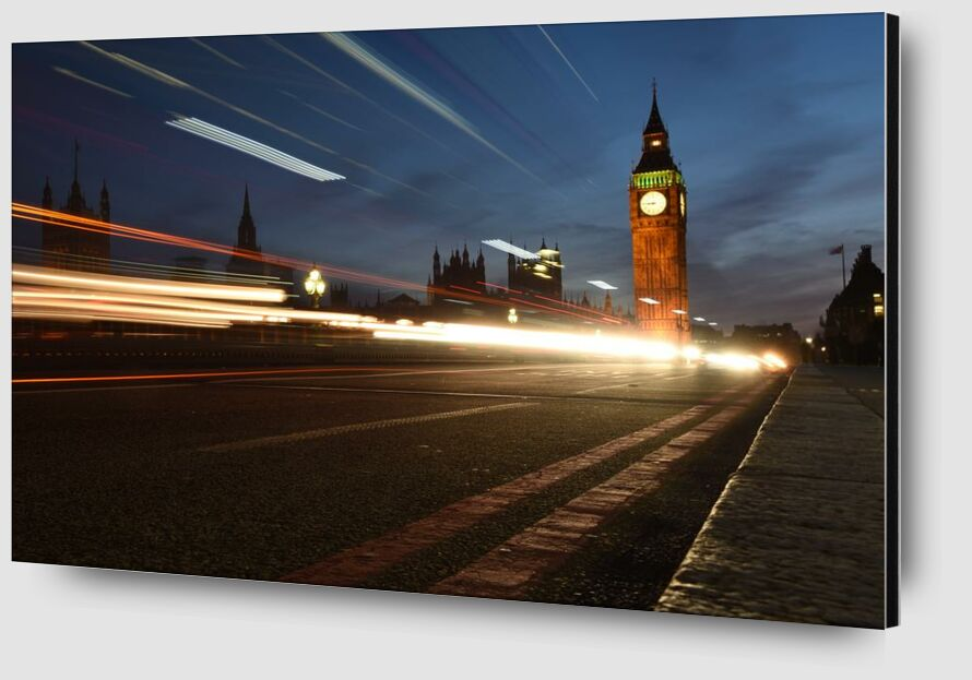 Big ben, out of time from Aliss ART Zoom Alu Dibond Image