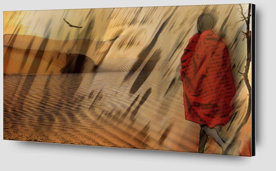 The march of Maasai from Adam da Silva Zoom Alu Dibond Image