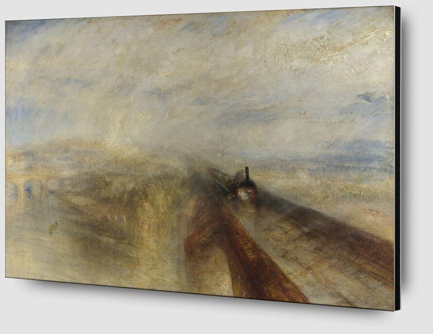 Pluie, Vapeur et Vitesse - Le Grand Chemin de Fer de l'Ouest - WILLIAM TURNER 1844 de Aux Beaux-Arts Zoom Alu Dibond Image