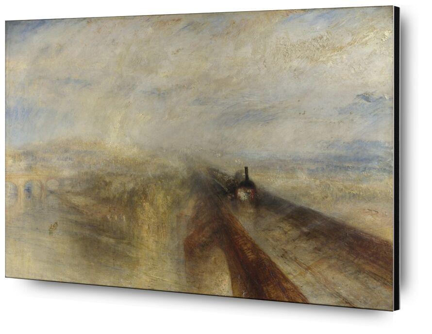 Pluie, Vapeur et Vitesse - Le Grand Chemin de Fer de l'Ouest - WILLIAM TURNER 1844 de Aux Beaux-Arts, Prodi Art, pluie, la vitesse, chemin de fer, WILLIAM TURNER, peinture, vapeur, Ouest