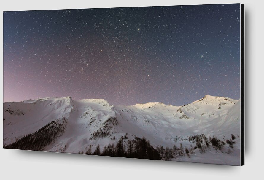 The stars under the mountain from Pierre Gaultier Zoom Alu Dibond Image