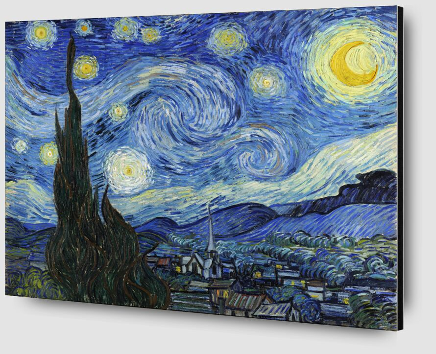 The Starry Night - VINCENT VAN GOGH 1889 from AUX BEAUX-ARTS Zoom Alu Dibond Image