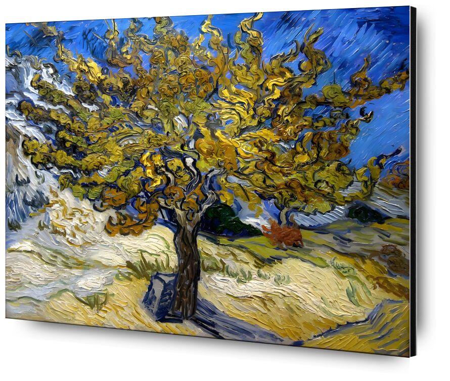Mûrier à Saint-Rémy - 1889 VINCENT VAN GOGH de Aux Beaux-Arts, Prodi Art, peinture à l'huile, prairie, bleu, VINCENT VAN GOGH, soleil, peinture, arbre