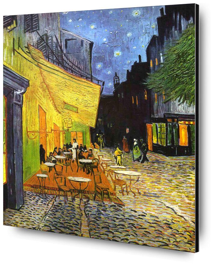 The Café Terrace on the Place du Forum, Arles, at Night - VINCENT VAN GOGH 1888 from AUX BEAUX-ARTS, Prodi Art, painting, coffee, France, village, VINCENT VAN GOGH, Arles, village square