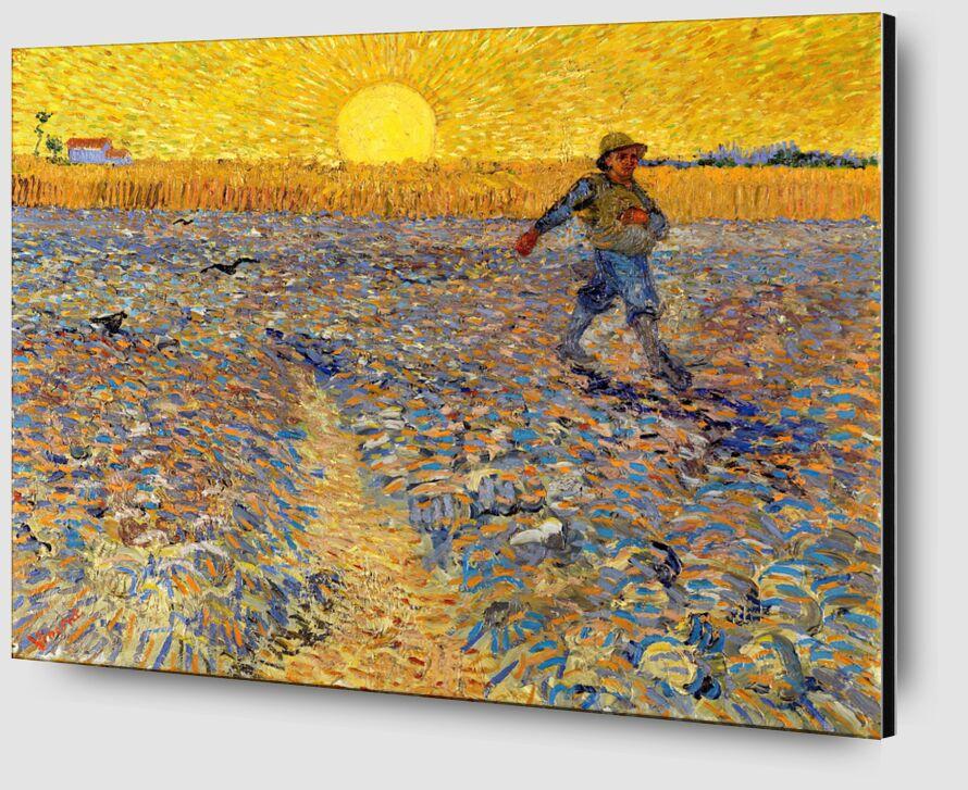 Le semeur au soleil couchant - VINCENT VAN GOGH 1888 de Aux Beaux-Arts Zoom Alu Dibond Image