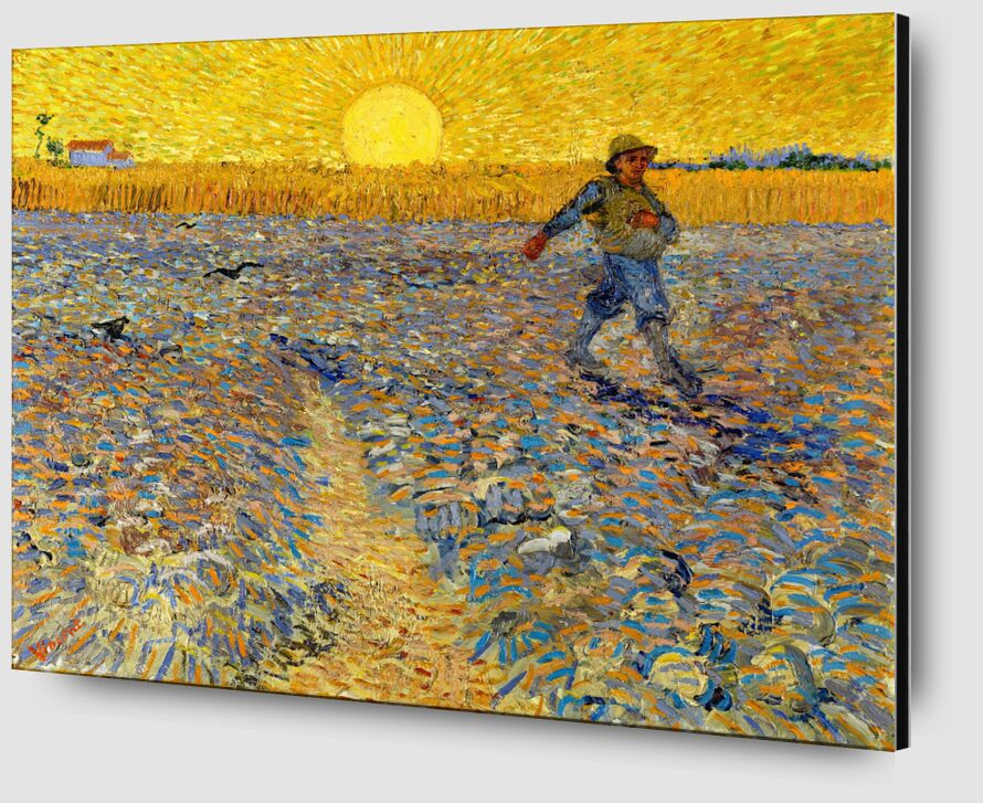Sower at Sunset - VINCENT VAN GOGH 1888 from Aux Beaux-Arts Zoom Alu Dibond Image