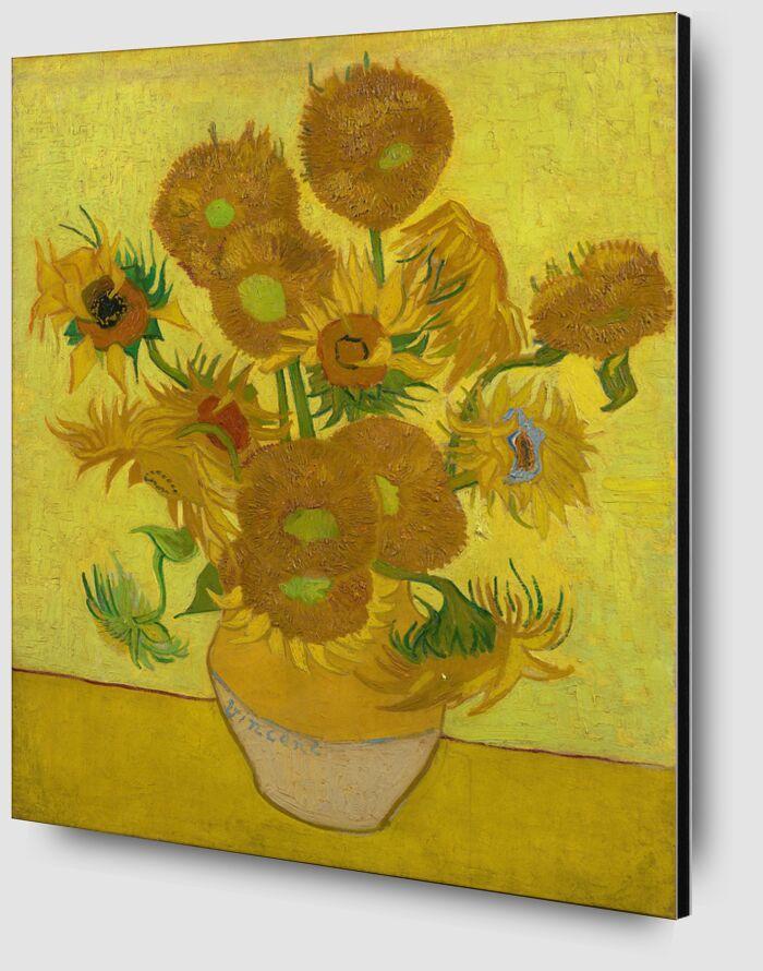 Sunflowers - VINCENT VAN GOGH 1889 desde AUX BEAUX-ARTS Zoom Alu Dibond Image