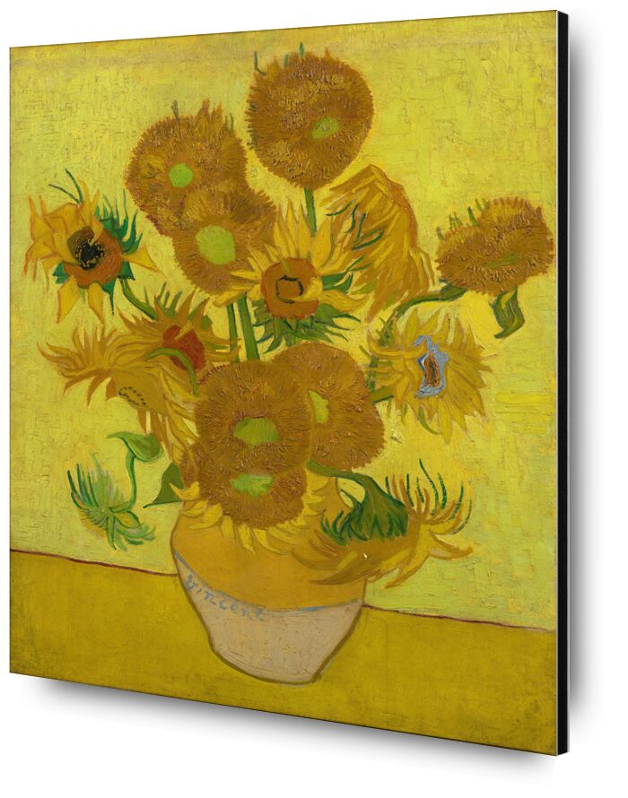 Sunflowers - VINCENT VAN GOGH 1889 desde AUX BEAUX-ARTS, Prodi Art, florero, Deco, comedor, girasoles, VINCENT VAN GOGH, cocina, mesa